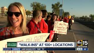 Teachers staging walk-ins across Arizona