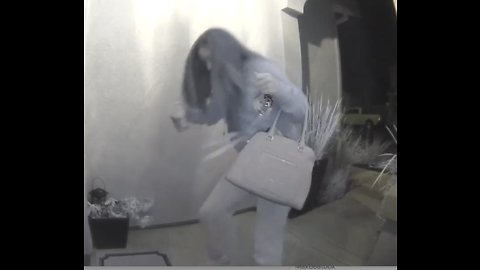 Ring DoorBell Camera Catches Girl Freak out over Spider