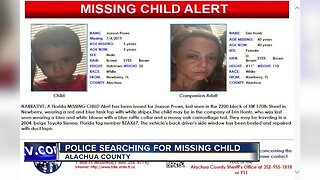 Florida missing child alert issued for boy in northern Florida
