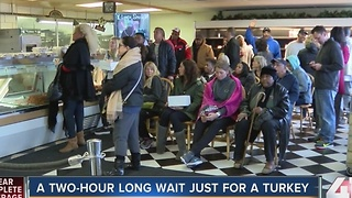 Two-hour wait for turkey from Fritz's - Video