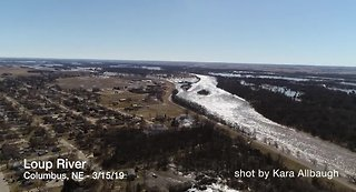 Loup River Drone Video - Near Columbus