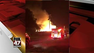 Business destroyed by fire in Jackson County - Video