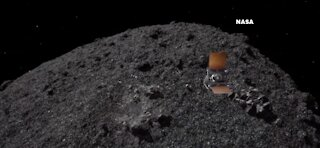 Osiris-Rex collects a sample of of asteroid