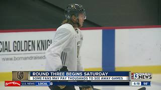 Knights fans ponder prices to travel for Conference Finals
