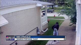 Police search for suspect in Melvindale bike thief