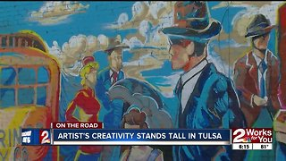 On the Road: Mural painter Josh Butts