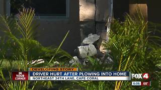 Man plows into Cape Coral home - Video