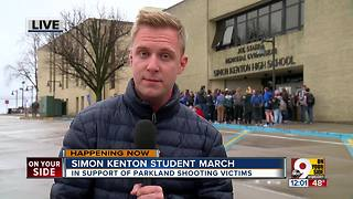 Simon Kenton students walk out of classes to protest gun violence after Florida school shooting
