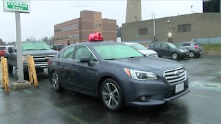 A Batavia medical center gifts a 20-year-employee with a brand new car