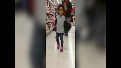 Tot Girl Shows off Awesome Shoes
