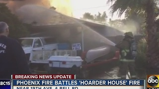 'Hoarder house' made it difficult for firefighters to fight flames - Video