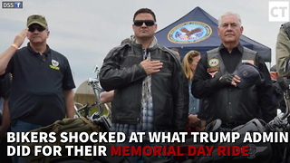 Bikers Shocked At What Trump Admin Did For Their Memorial Day Ride - Video