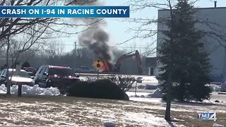 Scenes from the crash on I-94