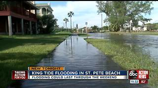 King tide causes flooding on St Pete Beach - Video