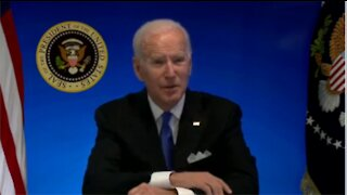 White House Cuts Off Biden's Feed After He Asks If He's Supposed to Take Questions