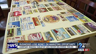 Company selling tabletop ads accused of swindling local businesses