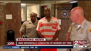 Man wrongfully convicted of murder set free