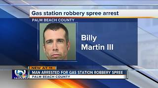 Greenacres man arrested in string of gas station robberies - Video