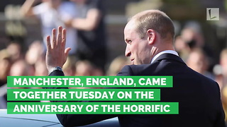 Prince William Leads Tear-Filled Memorial Service for Manchester Bombing Victims