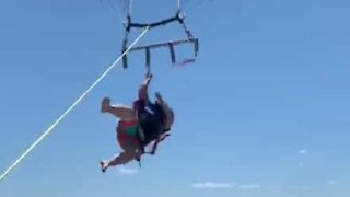 Parasailing accident almost ends in tragedy