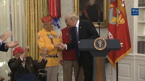 Media Focuses on Trump Calling Warren 'Pocahontas,' But World War II Vet Gets the Final Word