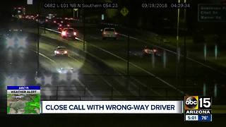 Driver in custody after traveling the wrong way on Loop 101