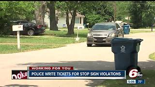 IMPD writes nearly a dozen tickets for running stop signs at