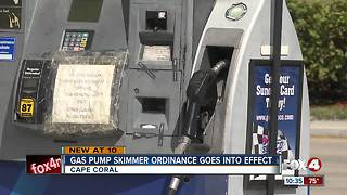 Gas pump skimmer ordinance goes into effect - Video