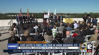 Live! Hotel hosts first job fair Friday - Video