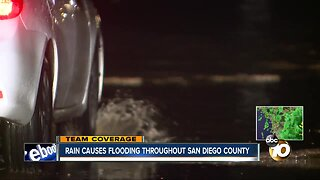 Rain causes flooding throughout San Diego County