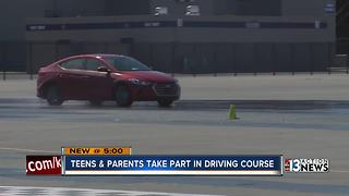 Valley teens, parents take part in driving course - Video