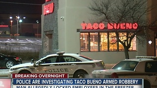 TPD: Workers forced into freezer during robbery - Video