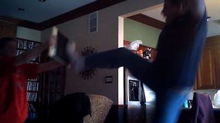 Dad's Epic Karate Fail - Video