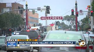 Man with knife threatens people in Hillcrest - Video