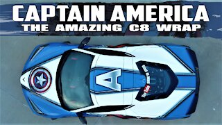 SPECTACULAR 2020 C8 Corvette Captain America Wrap REVEAL!