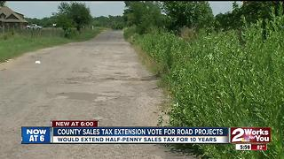 County sales tax extension vote for road projects - Video