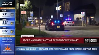 Police searching for man suspected of shooting a Walmart store manager in the leg in Bradenton