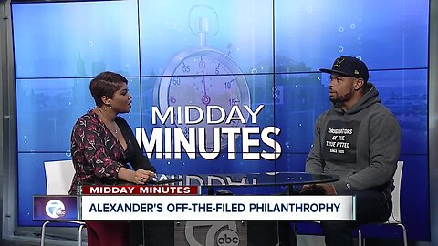 Midday Minutes: Lorenzo Alexander talks off-the-field philanthropy