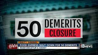 More than 50 demerits for Food Express leads to restaurant closing | Dirty Dining Las Vegas - Video