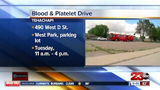 Blood and platelet drive