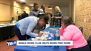 Single Moms Club helps mother find work