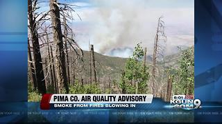 Air quality advisory issued for Pima County because of wildfire smoke - Video