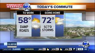 Much cooler today, with highs in the 70s - Video