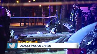 Car ripped to pieces after deadly police chase, killing 2 - Video
