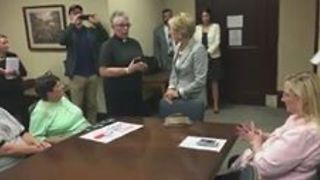 Group of West Virginians Try to Persuade Senator to Vote Against New Healthcare Bill - Video