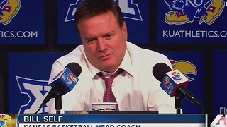 KU basketball coach has nothing to say on Bragg's charges - Video