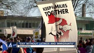 """Many rally at """"Day without Latinos and Immigrants"""""""