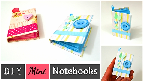 DIY mini notebooks made from paper scraps