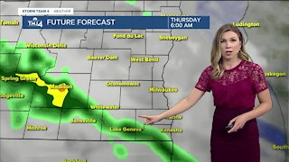 Showers return Thursday afternoon