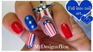 4th of July nail designs - Video